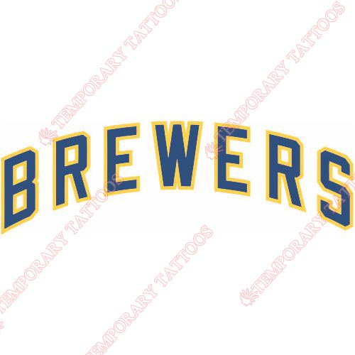 Milwaukee Brewers Customize Temporary Tattoos Stickers NO.1706