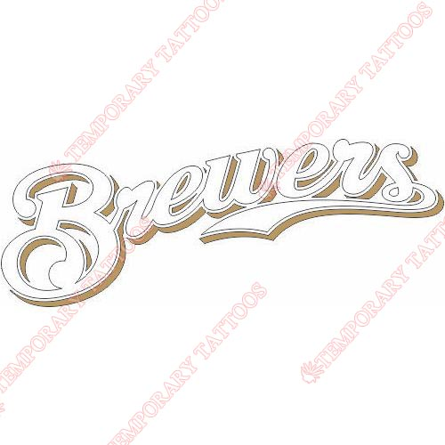 Milwaukee Brewers Customize Temporary Tattoos Stickers NO.1707