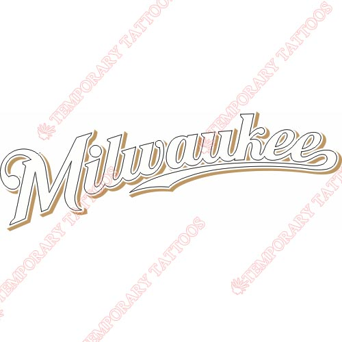 Milwaukee Brewers Customize Temporary Tattoos Stickers NO.1709