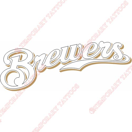 Milwaukee Brewers Customize Temporary Tattoos Stickers NO.1710