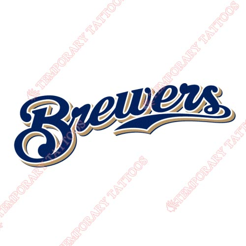 Milwaukee Brewers Customize Temporary Tattoos Stickers NO.1711