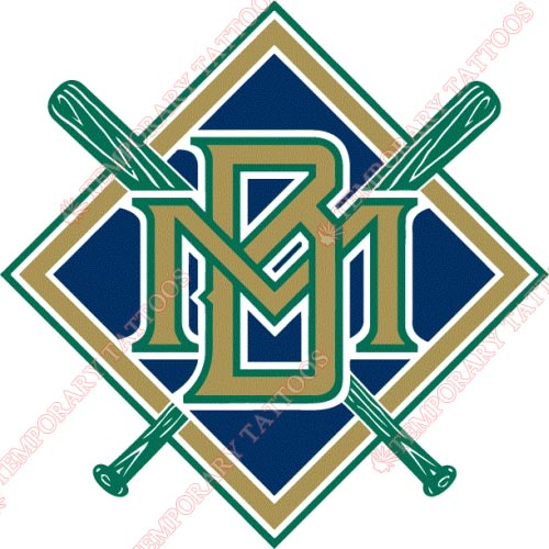 Milwaukee Brewers Customize Temporary Tattoos Stickers NO.1712