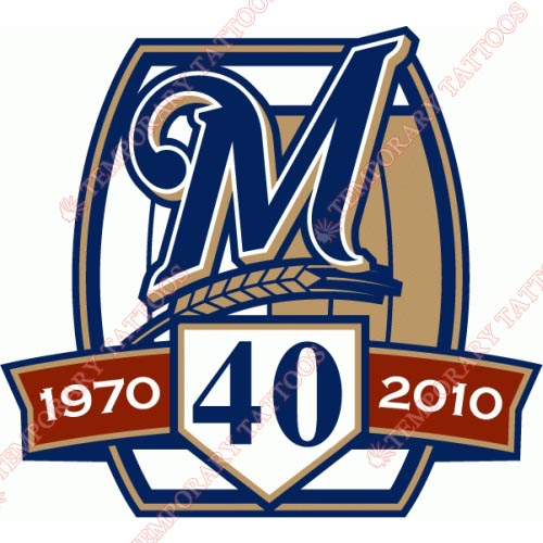 Milwaukee Brewers Customize Temporary Tattoos Stickers NO.1713