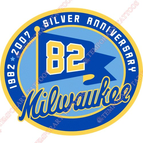 Milwaukee Brewers Customize Temporary Tattoos Stickers NO.1714