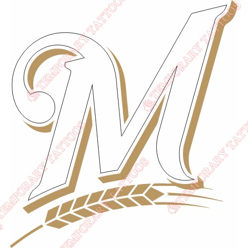 Milwaukee Brewers Customize Temporary Tattoos Stickers NO.1715