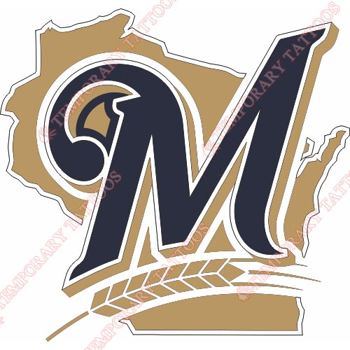 Milwaukee Brewers Customize Temporary Tattoos Stickers NO.1716