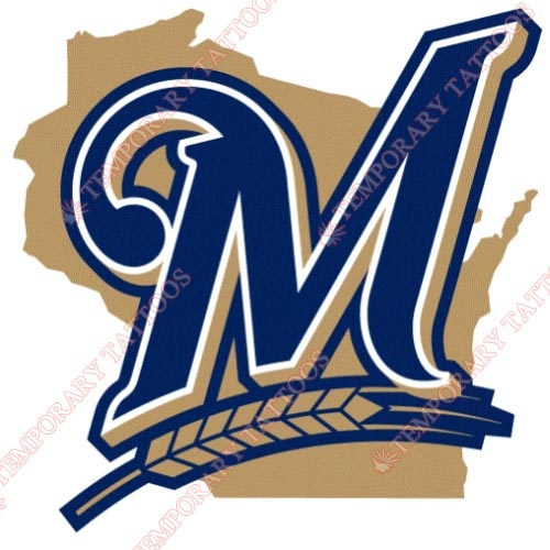 Milwaukee Brewers Customize Temporary Tattoos Stickers NO.1720