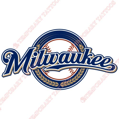 Milwaukee Brewers Customize Temporary Tattoos Stickers NO.1721