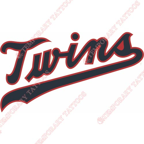 Minnesota Twins Customize Temporary Tattoos Stickers NO.1723