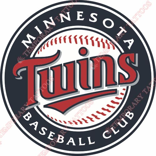 Minnesota Twins Customize Temporary Tattoos Stickers NO.1724