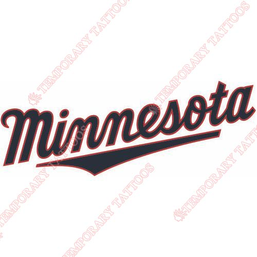 Minnesota Twins Customize Temporary Tattoos Stickers NO.1725
