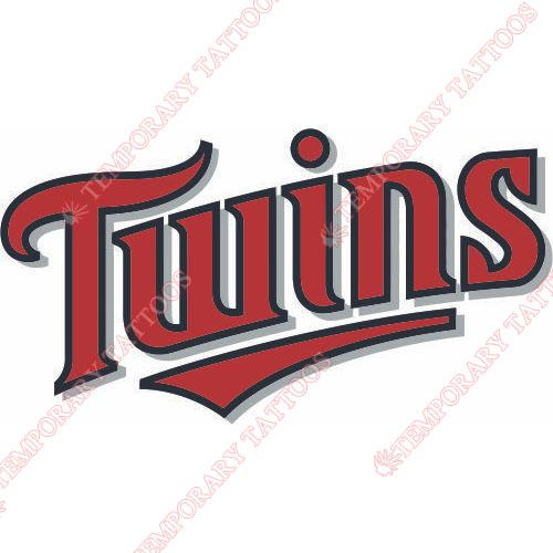 Minnesota Twins Customize Temporary Tattoos Stickers NO.1726