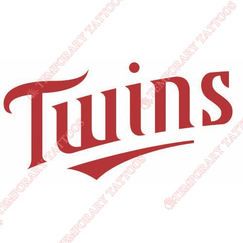 Minnesota Twins Customize Temporary Tattoos Stickers NO.1728