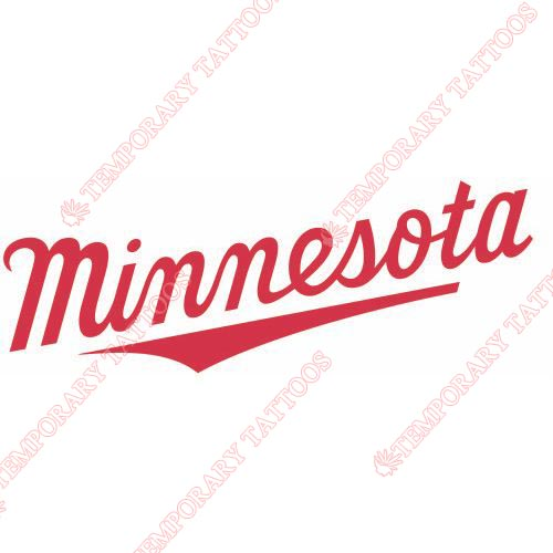Minnesota Twins Customize Temporary Tattoos Stickers NO.1729