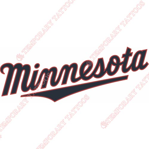 Minnesota Twins Customize Temporary Tattoos Stickers NO.1731