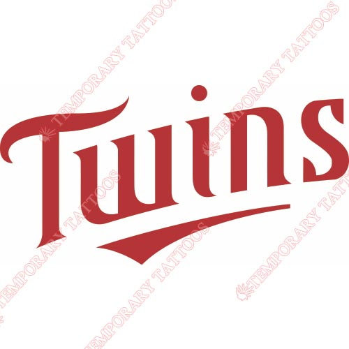 Minnesota Twins Customize Temporary Tattoos Stickers NO.1732