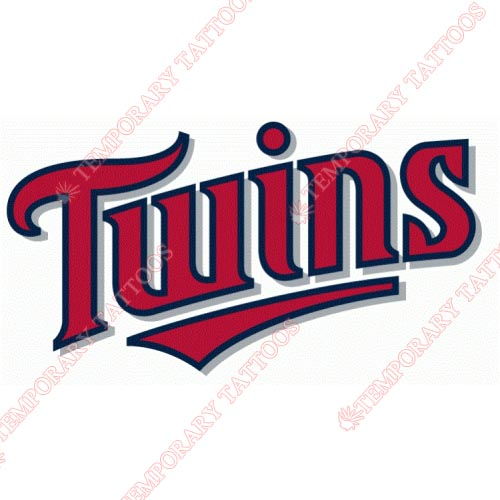 Minnesota Twins Customize Temporary Tattoos Stickers NO.1733