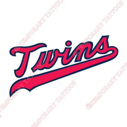 Minnesota Twins Customize Temporary Tattoos Stickers NO.1734