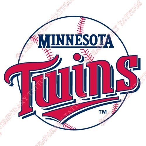 Minnesota Twins Customize Temporary Tattoos Stickers NO.1736