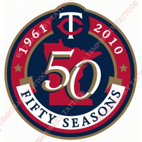 Minnesota Twins Customize Temporary Tattoos Stickers NO.1737