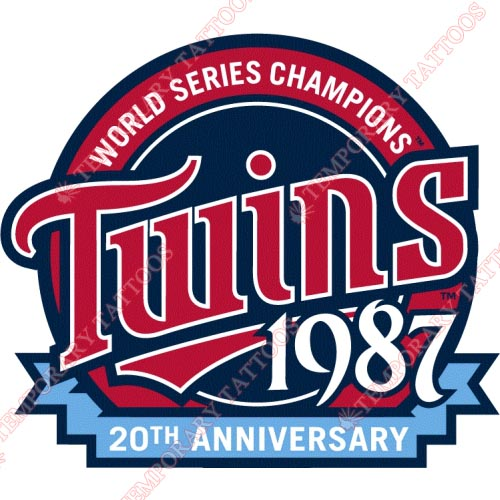 Minnesota Twins Customize Temporary Tattoos Stickers NO.1738