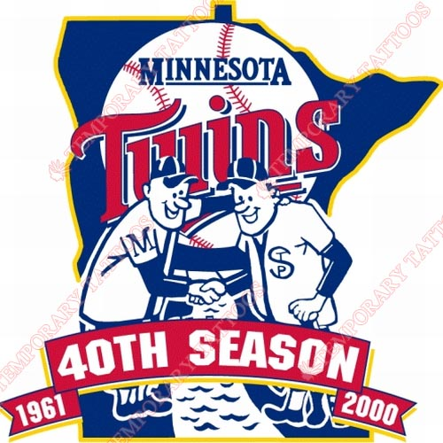 Minnesota Twins Customize Temporary Tattoos Stickers NO.1740