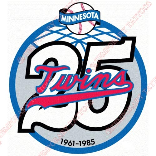 Minnesota Twins Customize Temporary Tattoos Stickers NO.1741