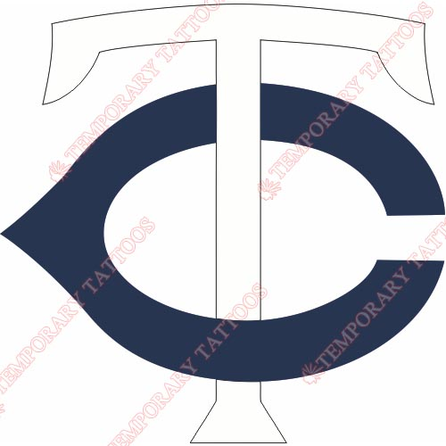 Minnesota Twins Customize Temporary Tattoos Stickers NO.1743