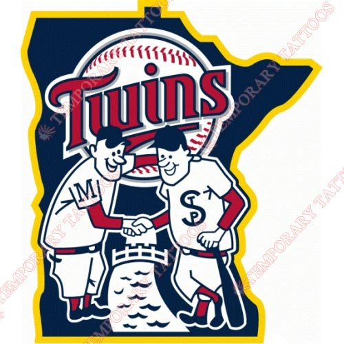 Minnesota Twins Customize Temporary Tattoos Stickers NO.1745