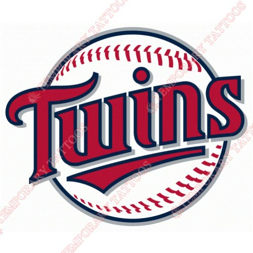 Minnesota Twins Customize Temporary Tattoos Stickers NO.1746