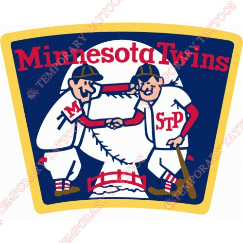 Minnesota Twins Customize Temporary Tattoos Stickers NO.1747