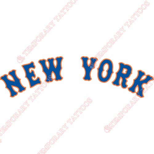 New York Mets Customize Temporary Tattoos Stickers NO.1752