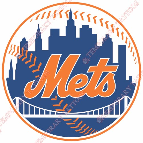 New York Mets Customize Temporary Tattoos Stickers NO.1754
