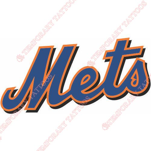 New York Mets Customize Temporary Tattoos Stickers NO.1755