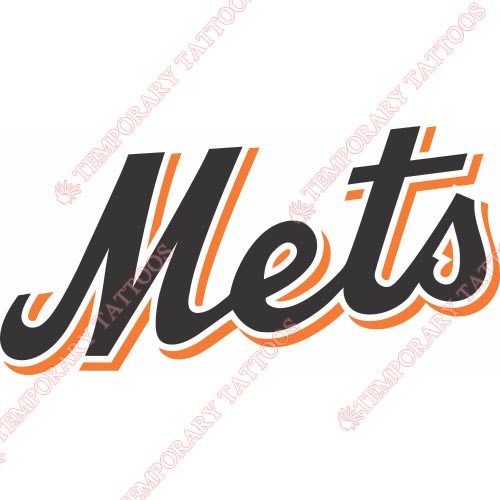 New York Mets Customize Temporary Tattoos Stickers NO.1758