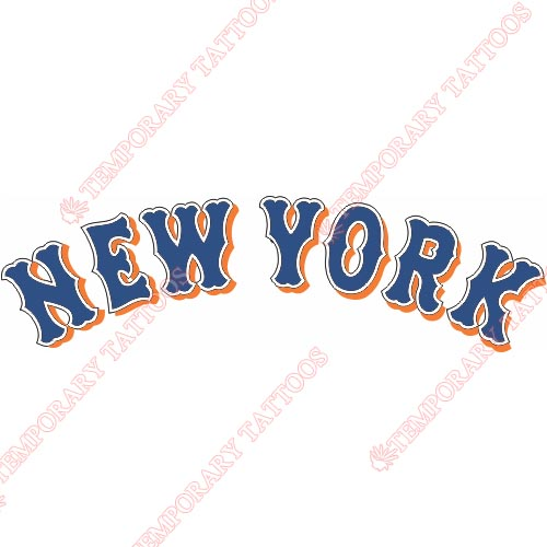 New York Mets Customize Temporary Tattoos Stickers NO.1760