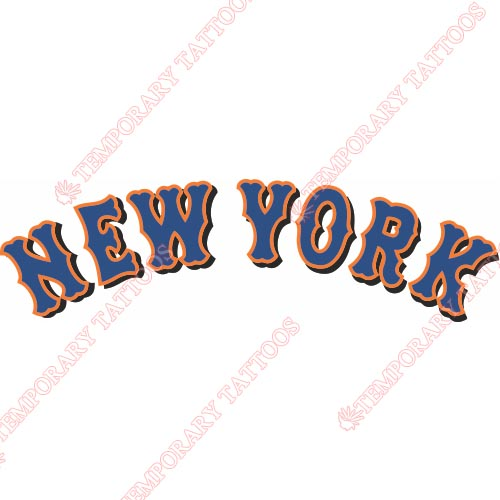 New York Mets Customize Temporary Tattoos Stickers NO.1761