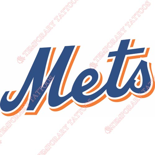 New York Mets Customize Temporary Tattoos Stickers NO.1762