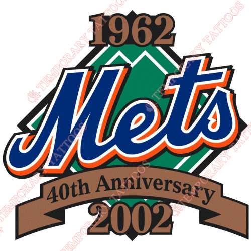 New York Mets Customize Temporary Tattoos Stickers NO.1765