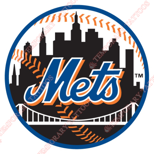 New York Mets Customize Temporary Tattoos Stickers NO.1770