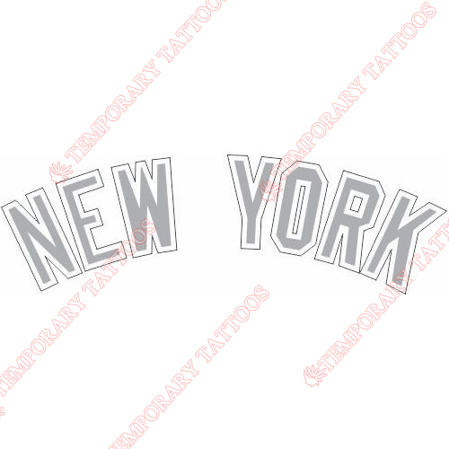 New York Yankees Customize Temporary Tattoos Stickers NO.1772
