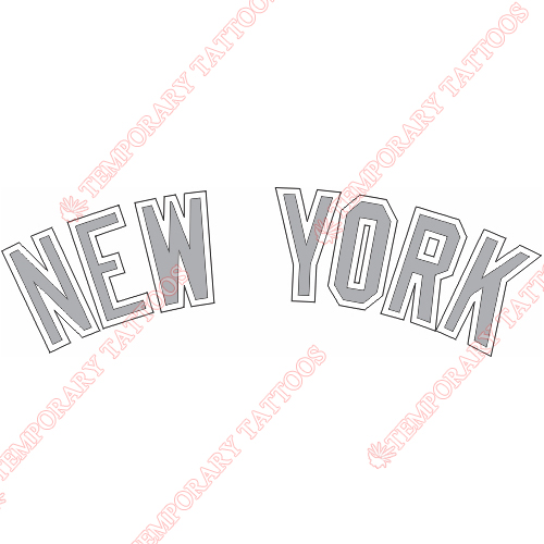 New York Yankees Customize Temporary Tattoos Stickers NO.1773