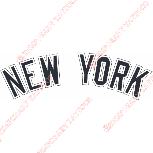 New York Yankees Customize Temporary Tattoos Stickers NO.1775