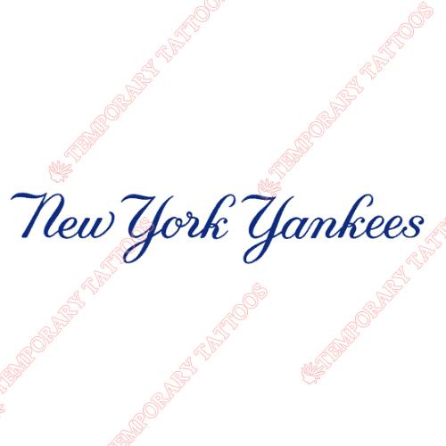 New York Yankees Customize Temporary Tattoos Stickers NO.1776