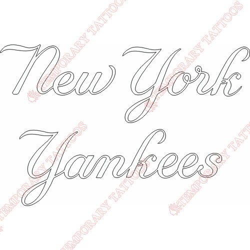 New York Yankees Customize Temporary Tattoos Stickers NO.1777