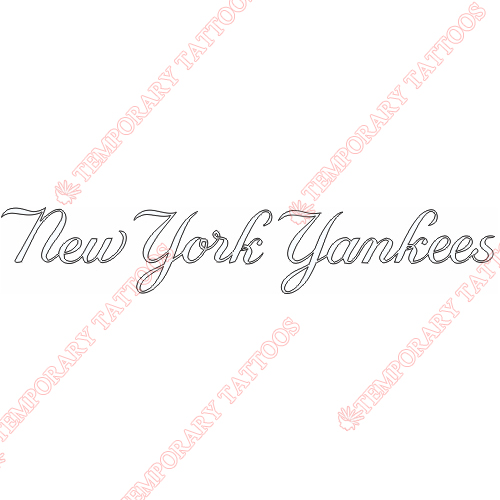 New York Yankees Customize Temporary Tattoos Stickers NO.1778