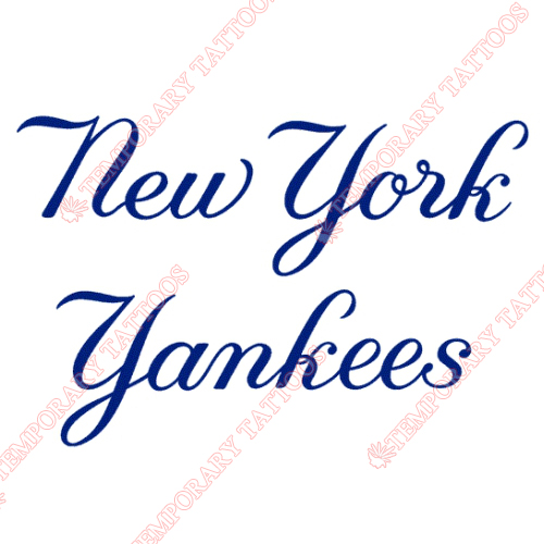 New York Yankees Customize Temporary Tattoos Stickers NO.1779