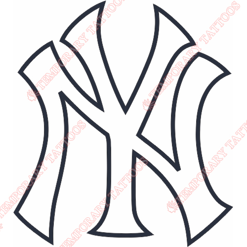 New York Yankees Customize Temporary Tattoos Stickers NO.1782