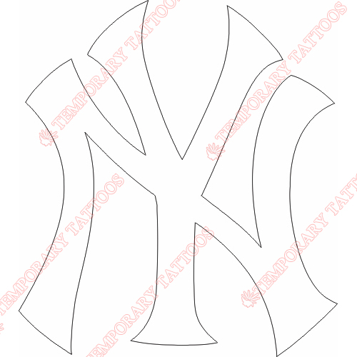 New York Yankees Customize Temporary Tattoos Stickers NO.1783