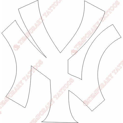 New York Yankees Customize Temporary Tattoos Stickers NO.1784